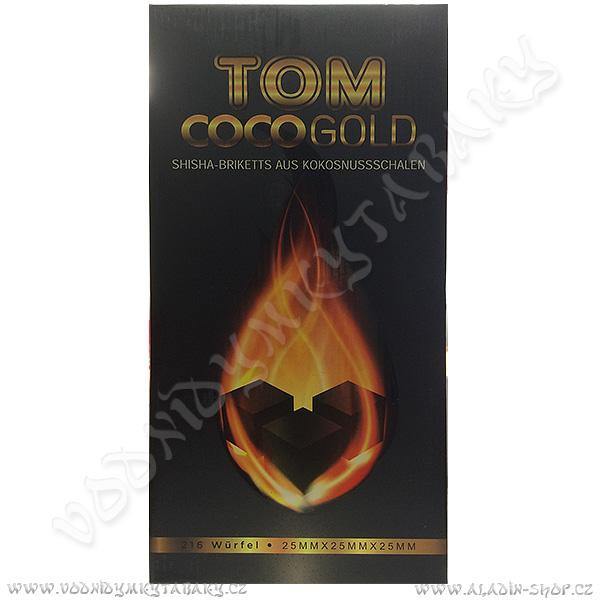 Uhlíky do vodní dýmky Tom Coco 3 kg Gold