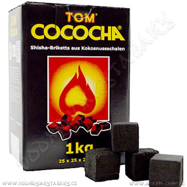 Uhlíky do vodní dýmky Tom Coco 1 kg Yellow