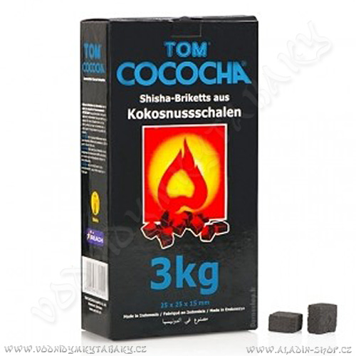 Uhlíky do vodní dýmky Tom Cococha 3 kg Blue Flat