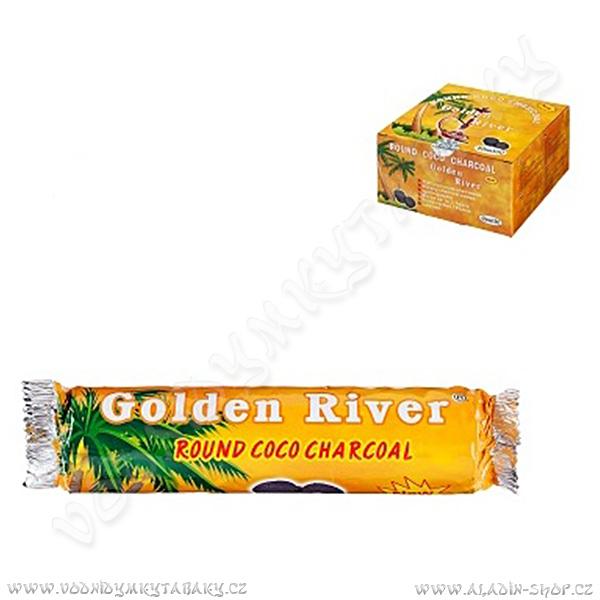 Uhlíky do vodní dýmky Golden River 40 mm kokosové