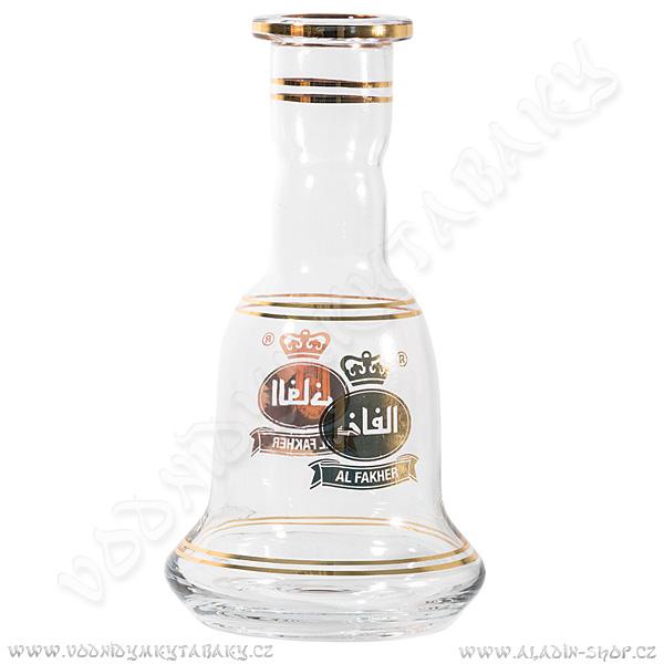 Váza pro vodní dýmky Al Fakher 30 cm čirá