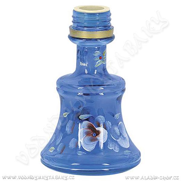Váza pro vodní dýmky Remo 19 cm modrá závit