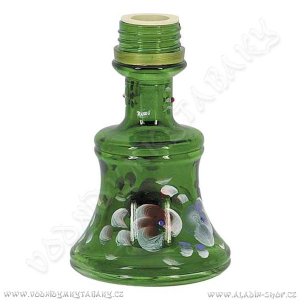 Váza pro vodní dýmky Remo 19 cm zelená závit
