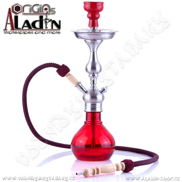 Vodní dýmka Aladin Barcelona 52 cm červená