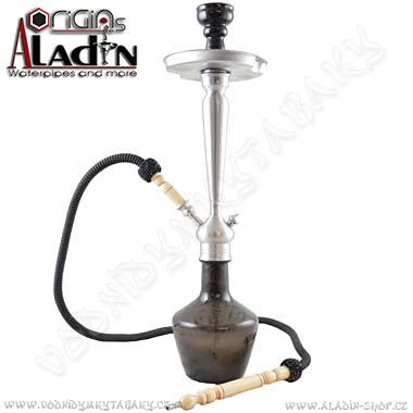 Vodní dýmka Aladin Damaskus 65 cm černá