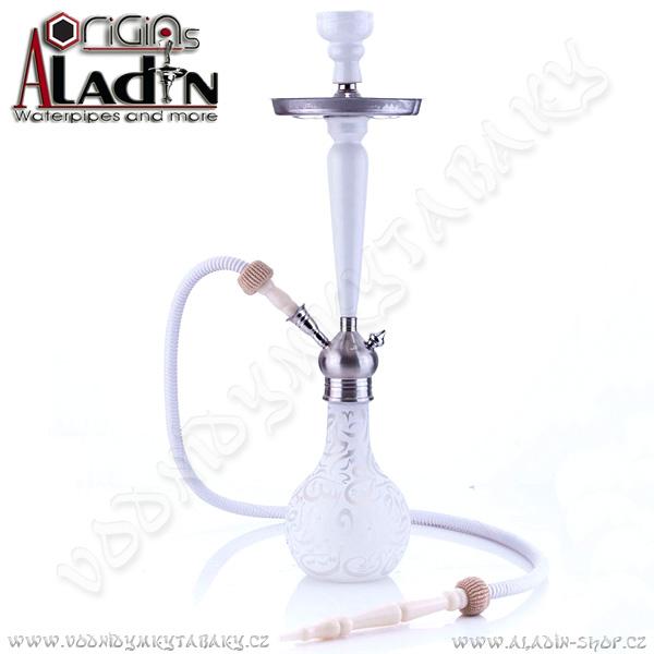 Vodní dýmka Aladin Karachi 67 cm bílá