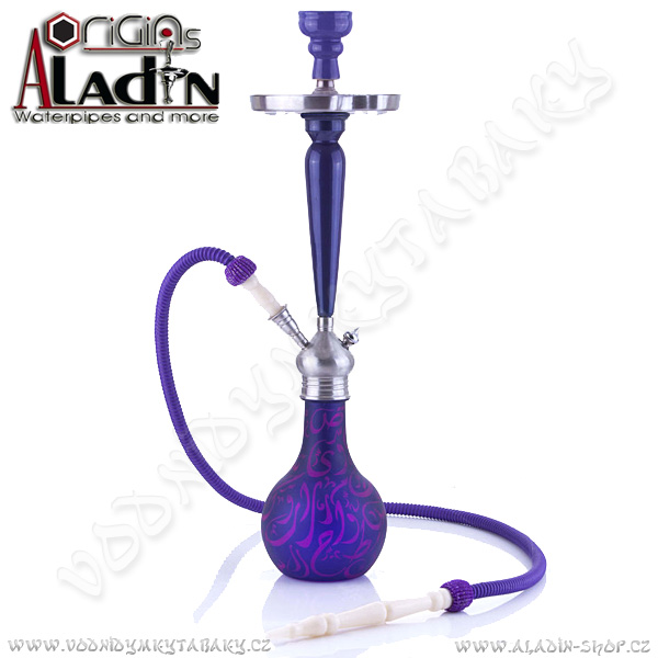 Vodní dýmka Aladin Karachi 67 cm fialová