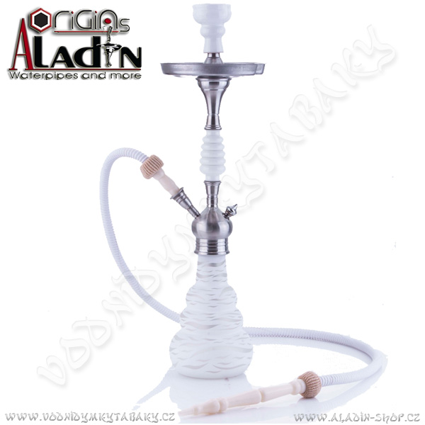 Vodní dýmka Aladin Lagos 65 cm bílá