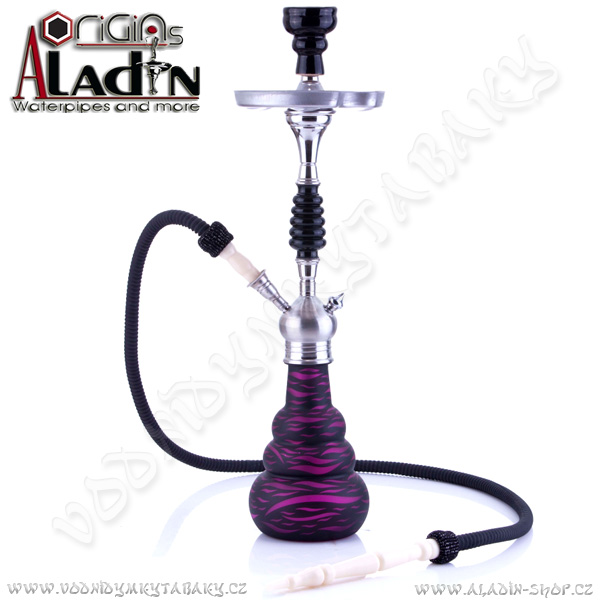 Vodní dýmka Aladin Lagos 65 cm fialová