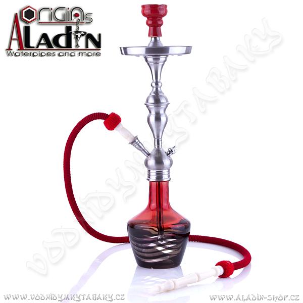 Vodní dýmka Aladin Lima 65 cm červená