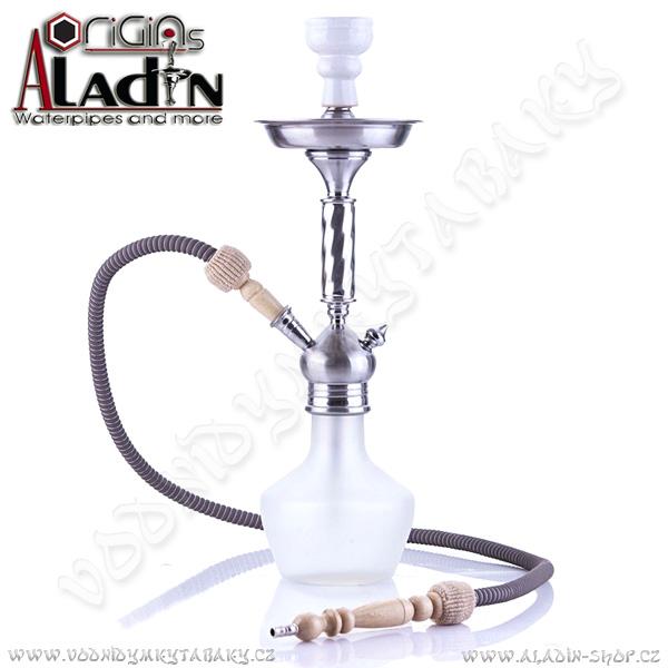 Vodní dýmka Aladin Mogadishu 53 cm bílá
