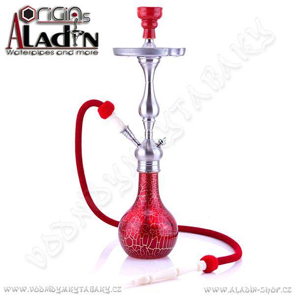 Vodní dýmka Aladin Mumbai 64 cm červená