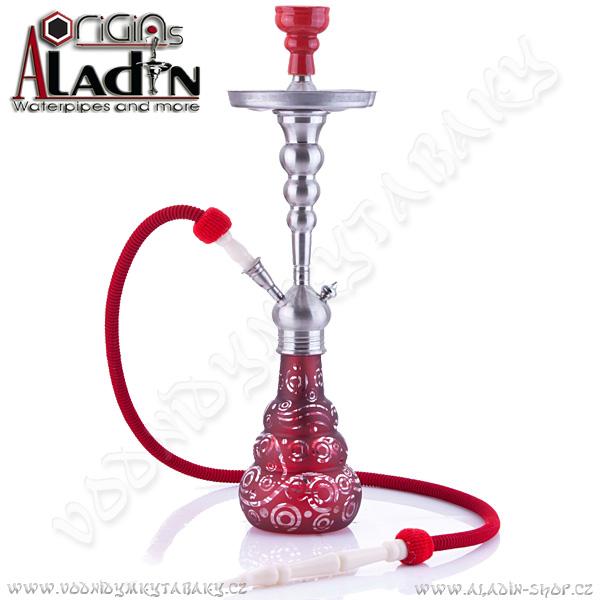 Vodní dýmka Aladin Saigon 65 cm červená