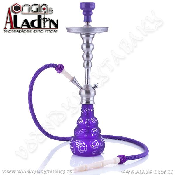 Vodní dýmka Aladin Saigon 65 cm fialová