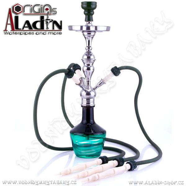 Vodní dýmka Aladin Timbuktu 65 cm zelená