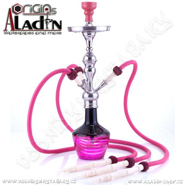 Vodní dýmka Aladin Timbuktu 65 cm růžová