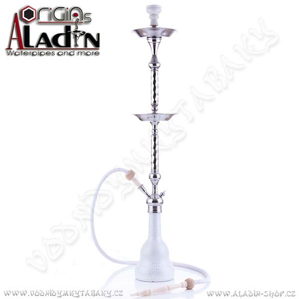 Vodní dýmka Aladin Uyuni 110 cm bílá