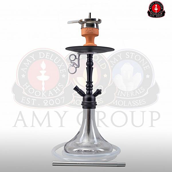 Vodní dýmka Amy Middle Globe clear RS black powder