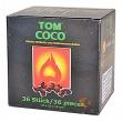 Uhlíky do vodní dýmky Tom Coco 36 ks Flat